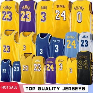 NCAA Crenshaw 23 LeBron James 3 Anthony Davis Los Angeles Lakers Maglie basket 24 Kobe Bryant 8 Bryant 32 Johnson 0 Kyle Kuzma Uomini Giovanili