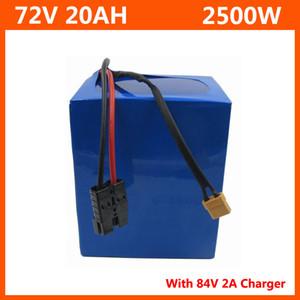2500W 72V 20AH Lithium-Batterie 72V 20.8ah Elektrische Fahrradbatterie 72V 20S Akku 3,7 V 2600mAh 18650 Zelle 40A BMS und 2A Ladegerät