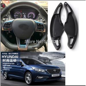 For Hyundai Sonata LF 9th 2016-19 2pcs Aluminium Paddle Shift Gear Extensions DSG Shifters