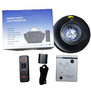 2020 Remote Ночник проектор Ocean Wave Voice App управление Bluetooth спикер Galaxy 10 Красочного свет Звездных сцен игр Party Room