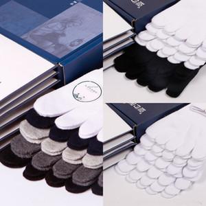6WbSj 5-pair pack men's five finger socks plain moisture wicking toe five fingers cotton socks cotton men's