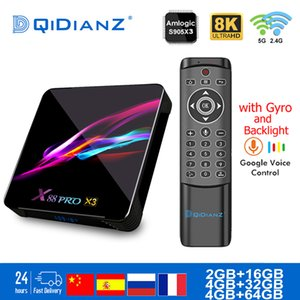 Smart TV BOX x88pro x3 Android 9.0 8K doppio Wifi Lettore BT Netflix multimediale Play Store App gratuita veloce Set top PK HK1MAX H96