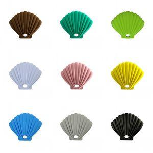 Forma Shell mascarilla de silicona caso de almacenamiento de la caja portable de polvo Contenedores Estudiante rica del color apuesto Bastante 6zw E2