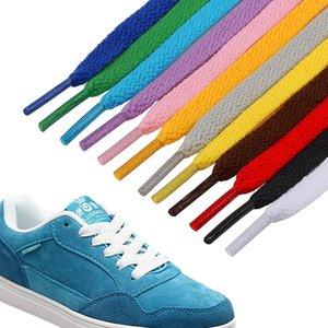 Polyester tissage de précision Lacets 8 mm Largeur simple couche / 50CM 80cm / 100cm / 120cm sport Souliers Shoestring classique Laces VT1483