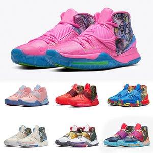 Conceitos X Kyrie 6 Grey Cinza Bruce Lee Sapatos Criados Shanghai Beijing Guangzhou Berlim Tóquio Cura o mundo Mens 6S Sport Sneakersba