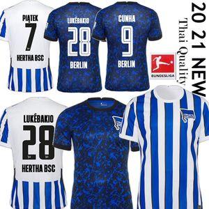 20 21 Hertha BSC Soccer Jersey 2020 PIATEK 2021 DARIDA CUNHA Football Shirt DILROSUN Berlin Hertha LUKEBAKIO DUDA Fußball-Trikot