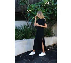 i vestiti dei vestiti di estate delle donne delle donne divise vestito spaccato ZSIIBO estivi ZSIIBO vestono fO7Ir