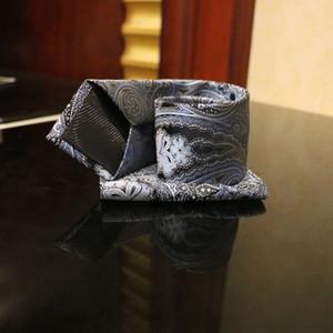 Mario classique Hommes de cravate Cravate jacquard hommes mariage rayé points floral d'affaires de handchief