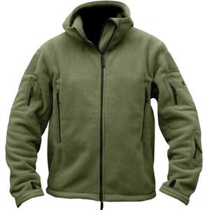 Chaqueta 2018 tapas del invierno al aire libre táctico Fleece Comercio Exterior de lana de los hombres de Montañismo paño grueso y suave de la chaqueta a prueba de viento cepillado