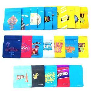 Leeren Sie Plätzchen Kalifornien SF Mylar Tasche 3.5g Gummies Tasche JEFE Cheetah Piss Dry Flower Herb Edibles Tasche für den Einzelhandel