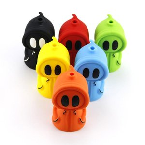 water pipes ghost silicone Glass Pipe hand smoking accessories Bong Spoon Pipe Food-grade silica gel glass water pipe glass smoking