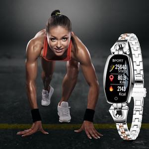 H8 Women Smart Bracelet Fashion Heart Rate Monitor Blood Pressure Smart Band IP67 Waterproof Fitness Activity Tracker Wristband