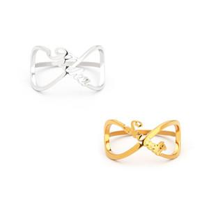 Personalisierte Infinity-Ringe für Frauen Edelstahl Individuelle Unendlichkeit Namen Ring Geburtstag Schmuck Weihnachten Best Friend Geschenk Anillos