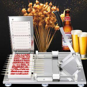 Sebzeler Et Şiş Araçları Paslanmaz Çelik kebap Yapma Makinesi Manuel Et Şiş Makinesi Kebap Aşınma 10 Strings Makinası