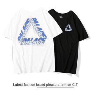 2020 Nuovo palazzo casuale triangolo di modo cotone lettera indietro T S M L stampare manicotto maglietta S-XXL 0