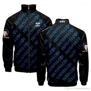 Autumn Clothing Pullovers Stand Collar 19ss XXXTentacion Men Hoodies Teenager Baseball Letters Designer Sweatshirts Spring