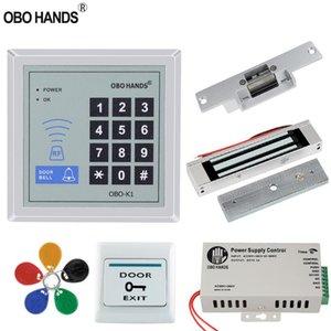 Kit de maison Porte de contrôle d'accès RFID 125KHz ensemble Password Controller Clavier avec verrouillage électrique 180KG 500 Frappe utilisateur magnétique