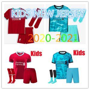TOP KIDS Liverpool bambini Kit + Sock Mane # 11 M.SALAH FIRMINO VIRGIL HENDERSON ROBERTSON 20-21 calcio Jersey e personalizzati Maglia Calcio