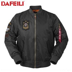 homens soltos DAFEILI moda e Outono MA-1 primavera divisionair ar força jaqueta de emblema distintivo piloto jaqueta jaqueta TxLRH