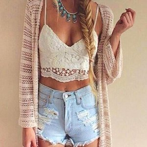 Summer Women Crop Tops Sexy Lace Flowers Tank Top White Black New Fashion Hollow Out Sling Tops