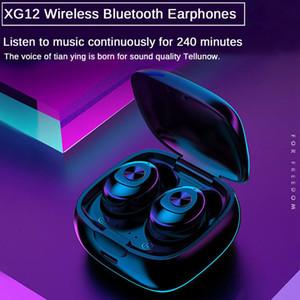 XG12 XG13 XG15 XG17 TWS البسيطة بلوتوث اللاسلكية 5.0 سماعات الأذن سماعات الأذن في سماعة مع الشحن مربع للجميع الهاتف