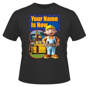 Bob The Builder Personalised Boys Girls T-Shirt Age 8 Ideal Gift Present Cartoon T Shirt Men Unisex New Fashion Tshirt