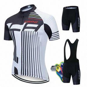 2020 2020 CAPO Pro Cycling Jersey Seti Yaz Dağ Bisikleti Giyim Takım Bisiklet Bisiklet Jersey Spor Suit Maillot Ropa Ciclismo 8QNp #