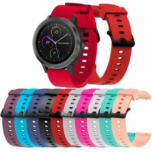 20mm Yumuşak Silikon Değiştirme Saat Kayışı için giyim eşyası VivoActive 3 İnsan spor Bileklik için Öncü 245/645 / Venu Bant