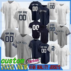 99 Aaron Giudice 2 Derek Jeter 27 Giancarlo Stanton personalizzato 2020 nuovo baseball maglie di New York del pullover 24 Gary Sanchez ricamo basso freddo