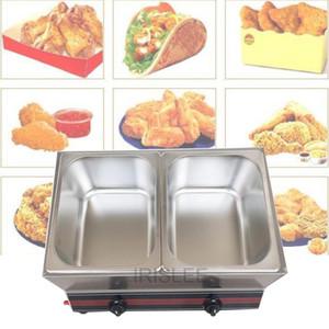 LEWIAO de gas comercial freidora de acero inoxidable cestas Freidora Doble Doble tanque de la máquina freidora frito francés / pollo