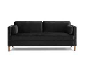 ABD Stok 2 P + 3 P Oturma Odası Siyah Kanepe Rahat Kararlı Çok Koltuk Kanepe W308S00004