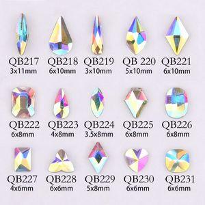 20pcs Cristalli Nail pietra del diamante Strass AB Rhinestones di vetro Per 3D Nails di arte della decorazione gioielli forniture QB217-246A