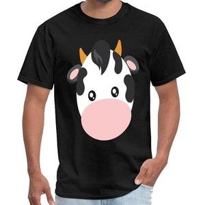 Animal print - cara divertida vaca niños lindos animales de granja ruso hombres de la camiseta synthwave tapas t camisa de talla grande s ~ 5Xl hiphop