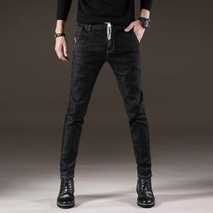 pantalones vaqueros de la juventud estiramiento delgado simples online jeans negros de qE7sO otoño e invierno hombres con cordones de la tienda flaco coreano y