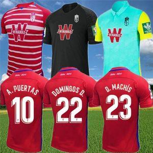 غرناطة لكرة القدم الفانيلة 2020 21 فاديلو سولدادو A.PUERTAS F.VICO هيريرا DOMINGOS D. D.MACHIS C.FERNANDEZ كرة القدم قميص