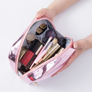 Cosmetic Bags Fashion Waterproof Laser Women Neceser Make Up Bag Pouch Wash Toiletry Travel Organizer Case Black Gold Pink
