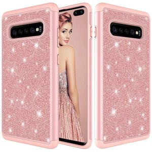 CgjxsFor Samsung S10 Caso mujeres de lujo del brillo brillante de Bling Proetective del caso para Samsung Galaxy S10plus S10e
