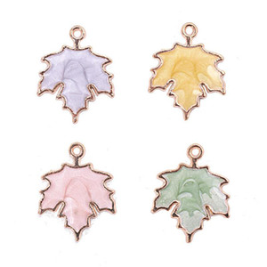 Maple leaves- DIY accessories ENAMEL ALLOY beads loose pendants Colorful CUTE strawberry for DIY jewelry MAKING