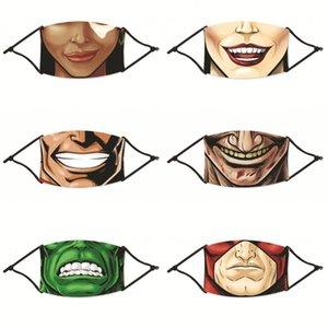 Cartoon Mouths Denti Maschere riutilizzabile Mascarilla Moda Pm 2,5 Protect respiratore personalizzata con filtro signore Bambini 4 2zya C2