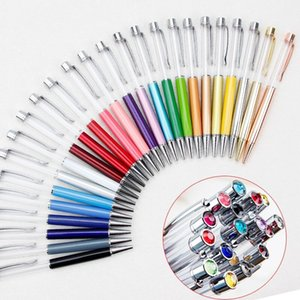 10pcs lot Writing Gift DIY Empty Tube Metal Ballpoint Pens Self-filling Floating Glitter 1pcs lot Dried Flower Crystal Pen Ballpoint Pens