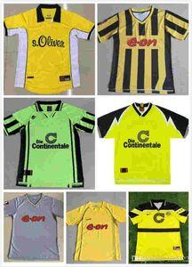Top Retro classique 1995 1996 1997 1998 2000 2001 2002 2003 Borussia Dortmund de football Rosický Bobic Rosický le football rétro chemise de S-2XL