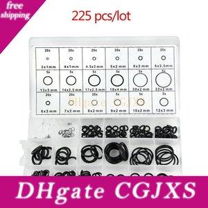225pcs / Lot de goma Negro O Ring Surtido Lavadora junta de estanqueidad O -Ring Kit 18 tamaños con caja de plástico