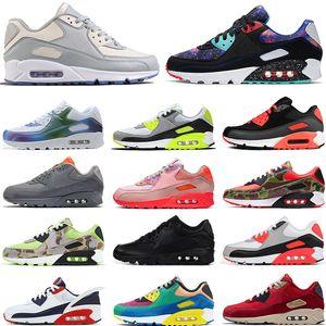 90 erkek FlyEase Beyaz Lazer Mavi Ters havayı ikincisi koşu ayakkabıları womensmaksimumCamo Ördek airmax spor ayakkabı açık eğitmenler mens