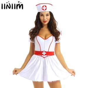 에로틱 간호사 박사 유니폼 여성 성인 장난 꾸러기 간호사 의사 의상 할로윈 섹시한 메이드 코스프레 의상 환상곡 Clubwear 설정