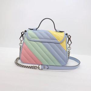 2020 Macaron moda çanta moda çanta kadın çantası omuz çantası hakiki deri ünlü marka crossbody çantası