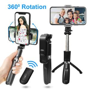 Selfie Stock-Stativ drahtlose Bluetooth Ständer Faltbare Monopods PTZ-Modus 360 Winkel Rotation für intelligentes Telefon Gopro Sport-Tätigkeits-Digitalkamera