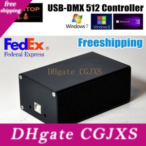 FREESHIPPING DMX512 المرحلة الإضاءة تحكم Hd512 الناقل التسلسلي العام واجهة اخسر وظيفة مزدوجة التيار الكهربائي مارتن / Avolites البرامج Win10