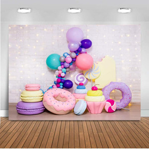 Donuts newborn portrait backdrop for photography photo shoot brick wall 1st birthday donut party photo background studio prop