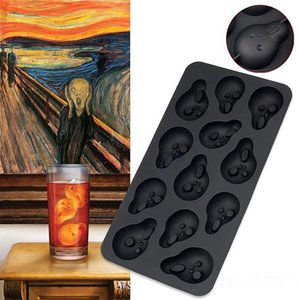 3D Skull Ice Cube Mold Halloween Skull Shaped Whisky Wine Ice Cube Tray Maker Chocolate Mould Bar Party Supplies