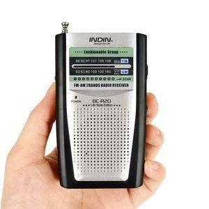 BC-R20 Taşınabilir Pocket Mini AM / Hoparlör ve Kemer Clip ile FM Radyo